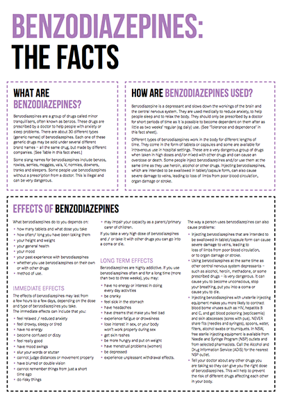 Benzodiazepines Drug Facts