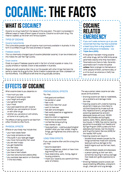 Cocaine Drug Facts