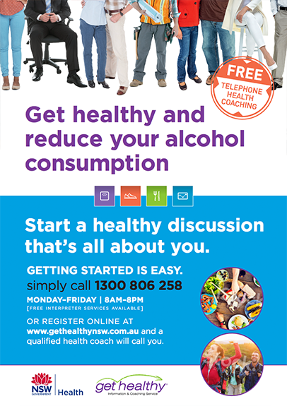 Get Healthy Service - Alcohol Reduction Poster