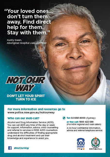 Not Our Way - Ice Poster Aunty Gwen